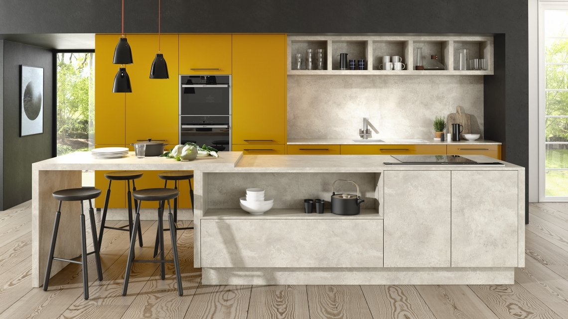 Lucido Yellow Gloss & Chalk Ceramic